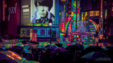 Liam Wong's stylised photography of Shibuya in Tokyo today