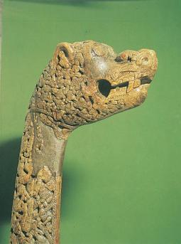Original Viking-carving found at the Osebergship